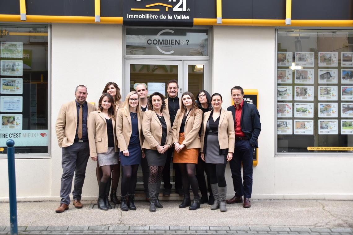 L'équipe Century 21 Immobilière de la Vallée