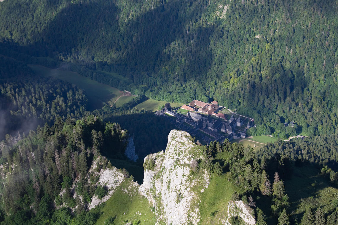 Monastère de la Grande Chartreuse depuis le Grand Som