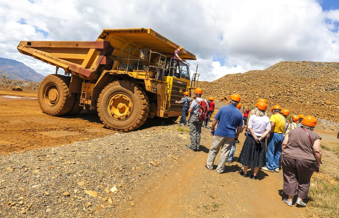 Visite de la mine du plateau