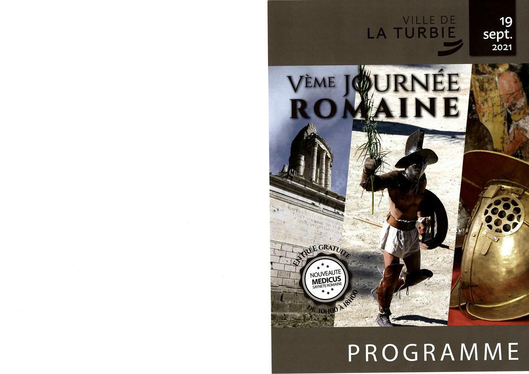Flyer de la Journée Romaine à La Turbie