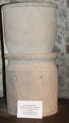 Borne milliaire romaine Puget sur Argens