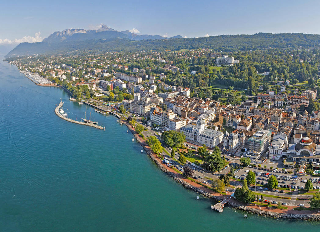 Evian - vue panoramique