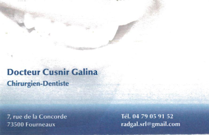 Chirurgien dentiste Cusnir Galina