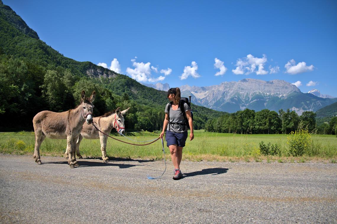 Randonnée avec les ânes, Valgodane