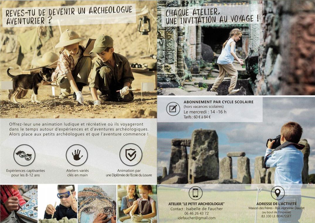 """Atelier """"Le petit archéologue"""""""