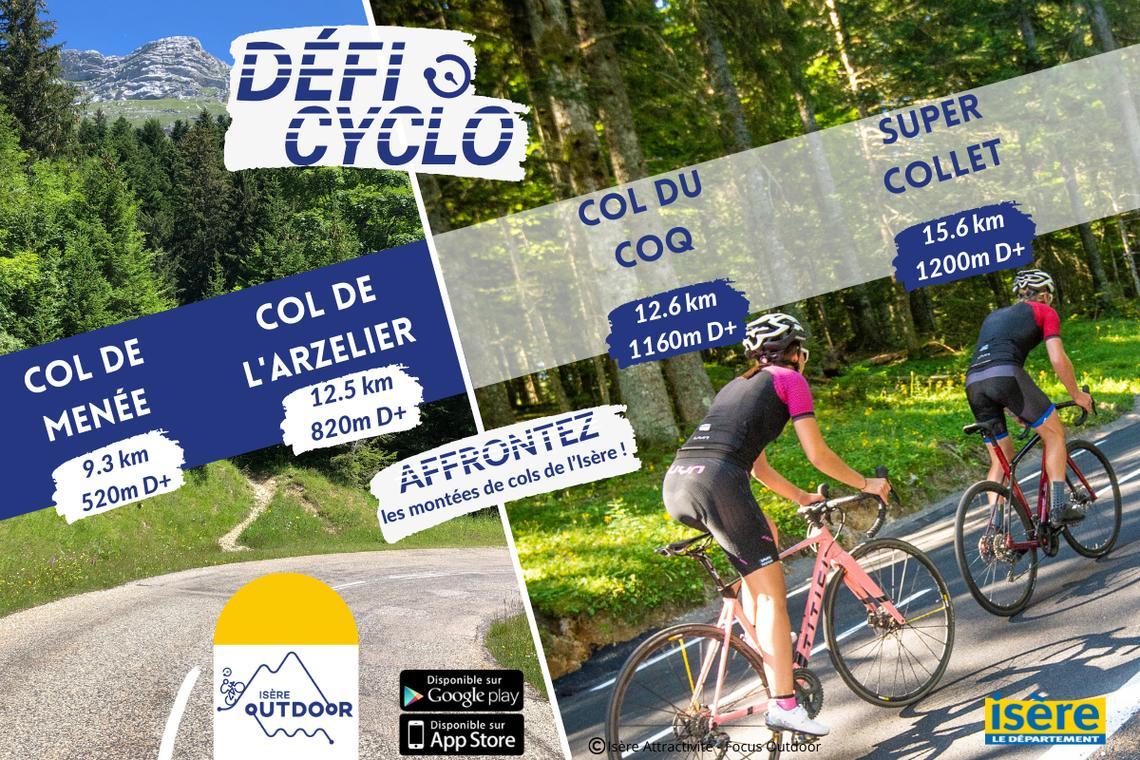 Défis cyclo Département Isère 2021