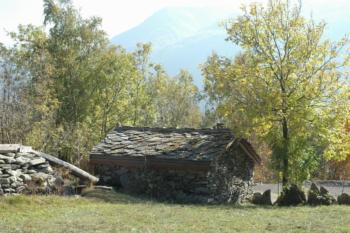 le moulin du haut et son chenal d'amenée d'eau creusé dans le bois