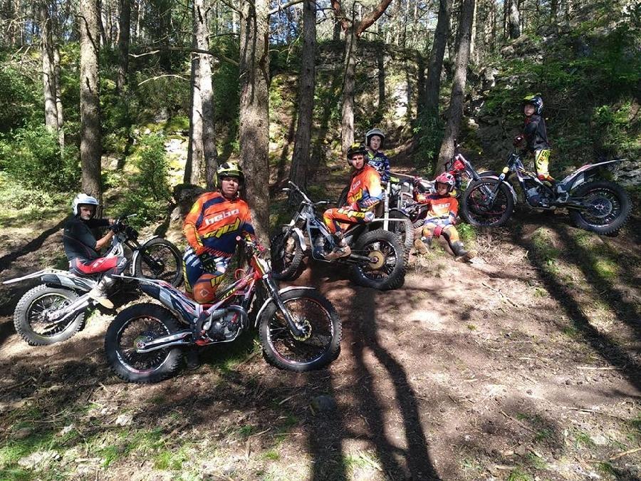 Moto trail à Millau