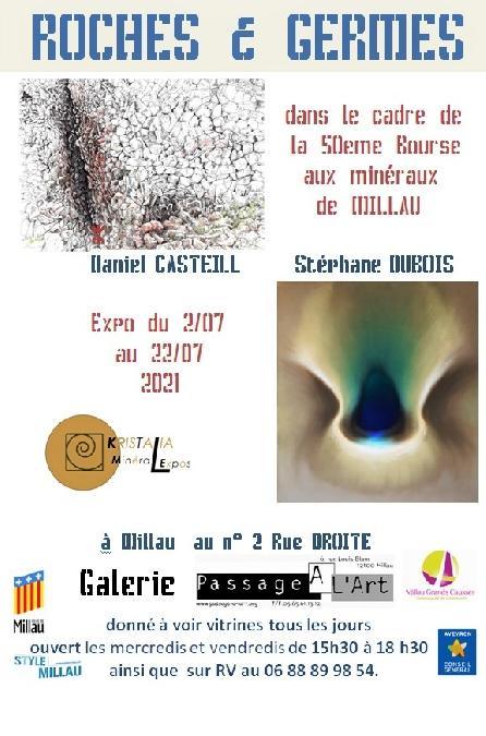 Affiche exposition Roches et Germes