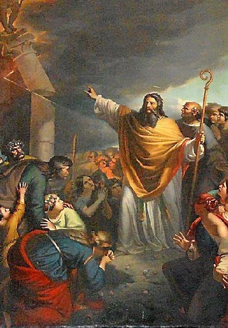 saint Amans détruisant l'idole Ruth - église Saint-Amans