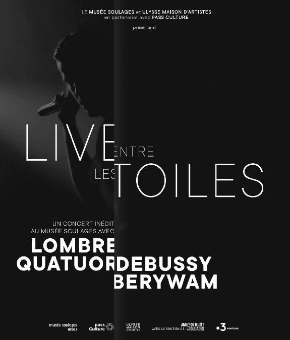 concert livestream : LOMBRE/BERYWAM/QUATUOR DEBUSSY au musée Soulages
