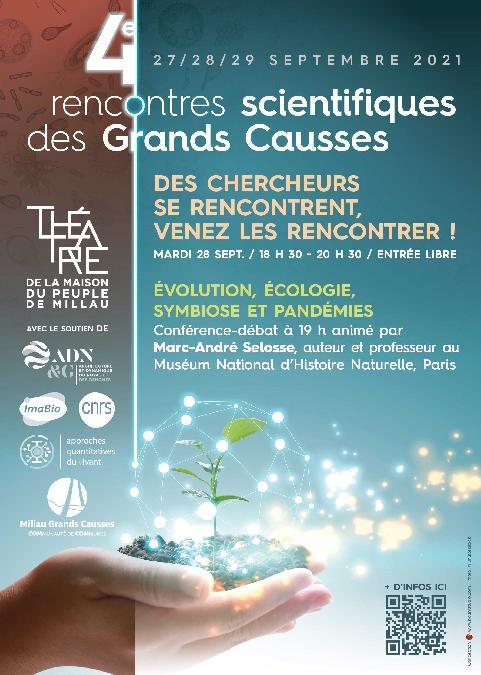 """4e Rencontres scientifiques des Grands Causses - Conférence Evolution, écologie, symbiose et pandémies"""""""