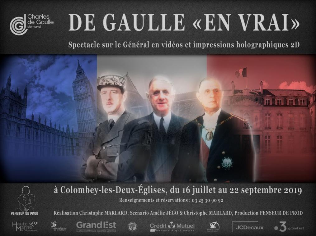 de gaulle en vrai spectacle memorial colombey 2019 h.