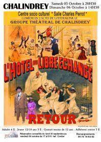 champagne haute marne manifestation theatre feydeau chalindrey 2019.