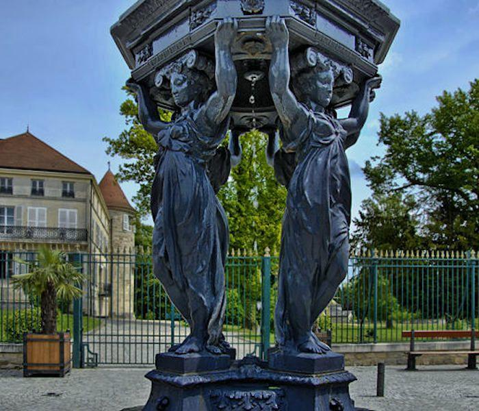 champagne 52 fonte art fontaine wallace.
