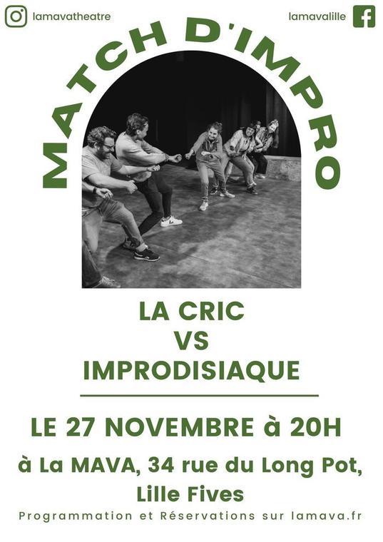 MATCH D'IMPROVISATION : LA CRIC VS IMPRODISIAQUE_1