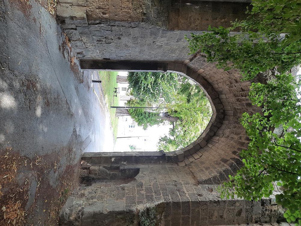 Chemin d'entrée abbaye Saint-Médard @LéaM (2)