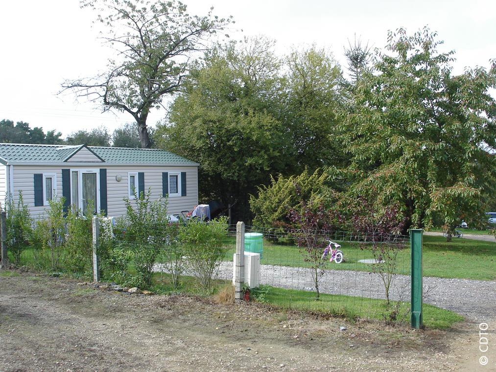 Mobile home vue d'extérieur