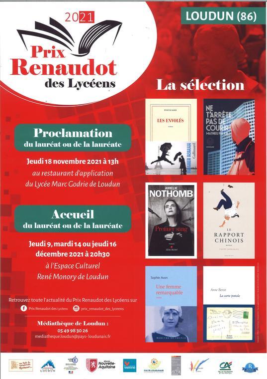 Prix Renaudot des Lycéens 2021
