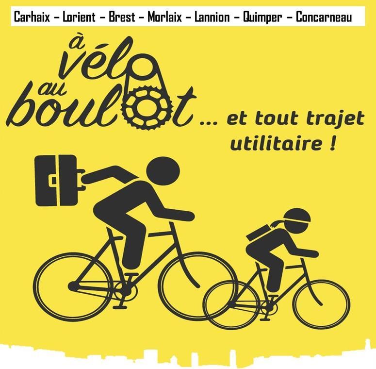 A vélo au boulot - affiche - Carhaix 2021Vers TS