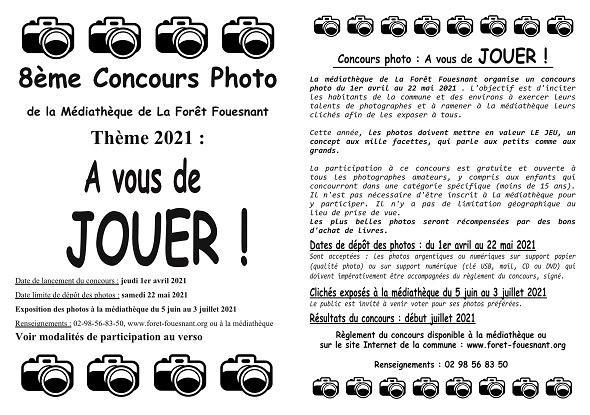 Concours photo Médiathèque La Forêt-Fouesnant - Avril mai 2021