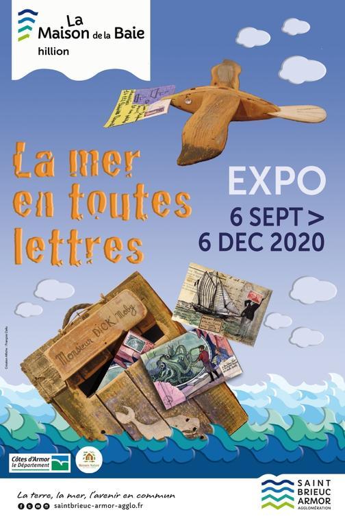 Exposition La Mer En Toute Lettres Maison De La Baie Hillion Tourisme Bretagne
