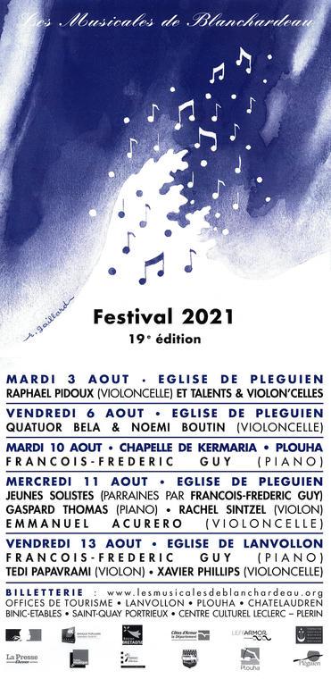 affiche Musicales de Blanchardeau 20 21