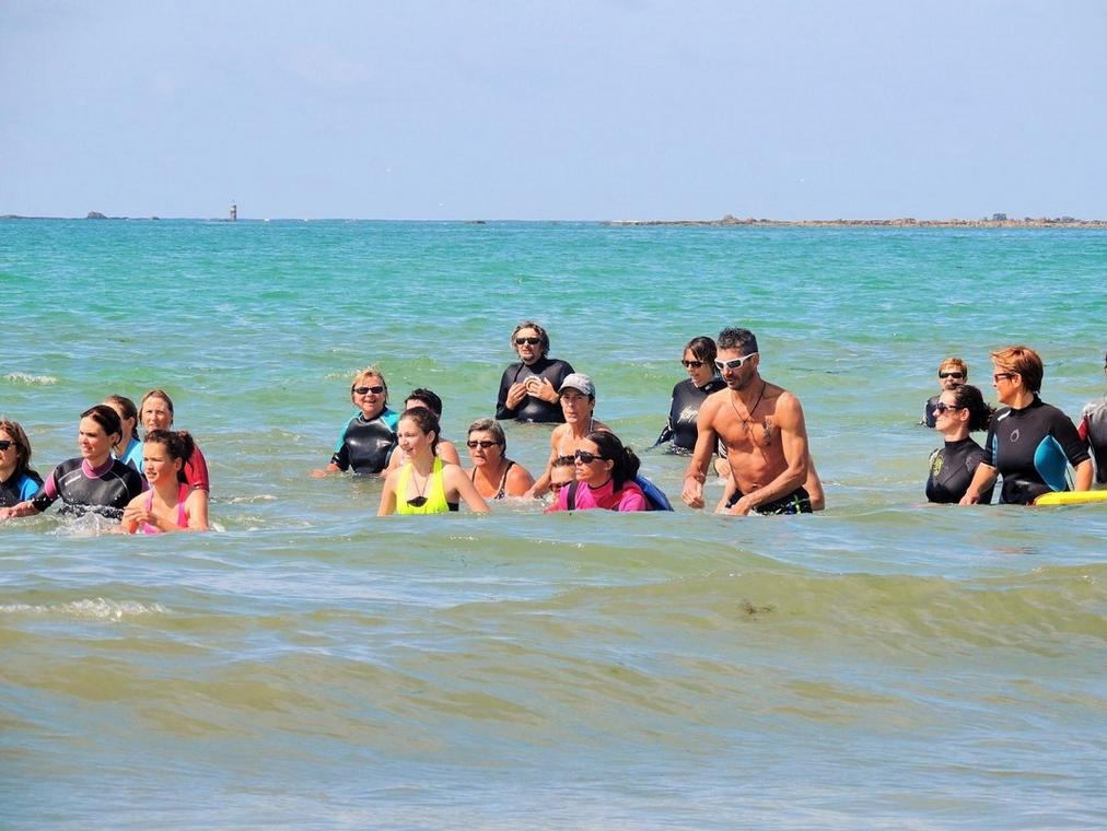 Marche aquatique en mer - Guilvinec - Pays Bigouden