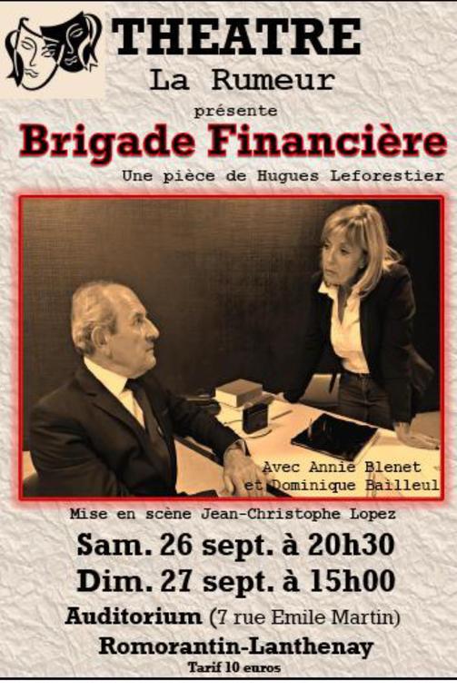 Représentation théâtrale - Brigade Financière à Saint-Aignan