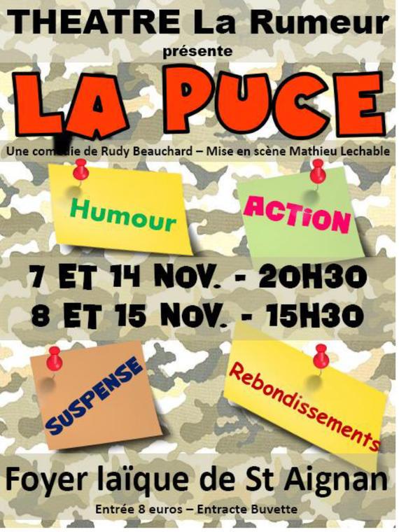 """théâtre à Saint-Aignan """"La Puce """""""