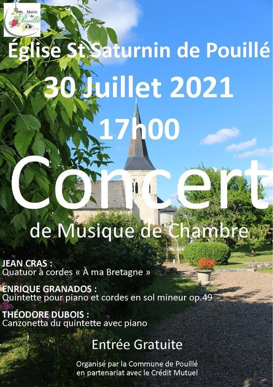 Affiche Concert Eglise 2021