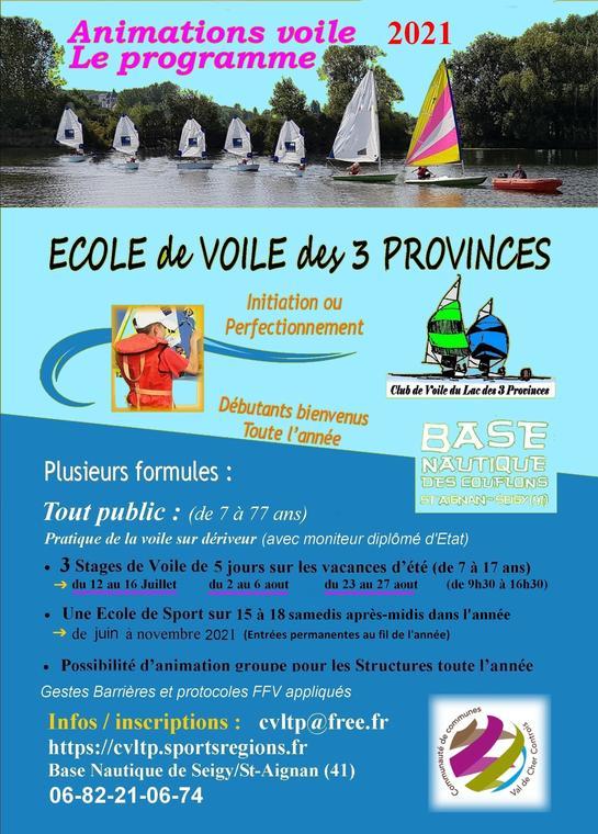 flyer 2021 ecole voile-saint-aignan-été-2021-valdeloire