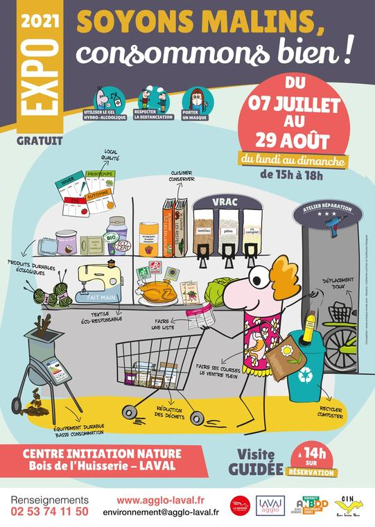 affiche expo SOYONS MALINS