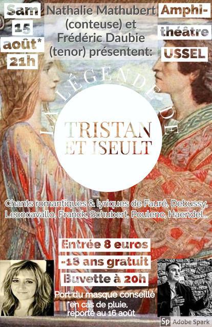 Affiche concert 15 aout tristan et iseult