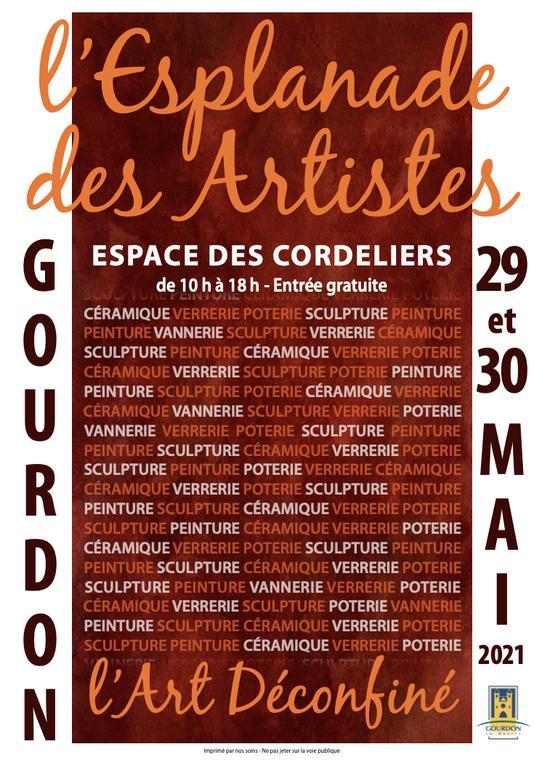 Affiche expo Esplanade des Arts