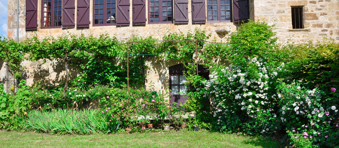 Facade et jardin