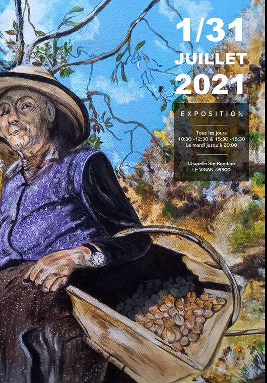 Le Vigan En Quercy - Affiche expo peinture 1 31 juillet 2021 V3 option A@