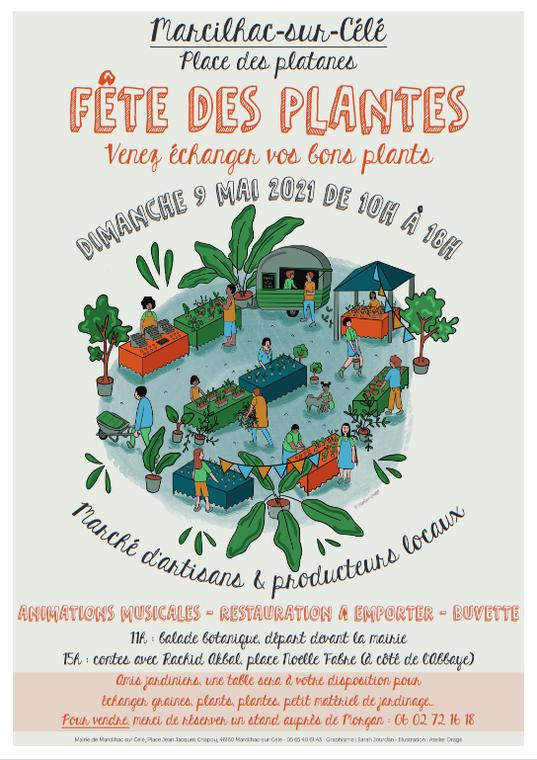 affiche fete des plantes Marcilhac