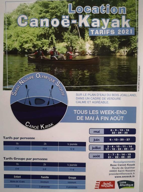 SNOS Canoe Kayak Bois Joalland