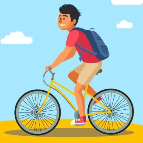 Vélo dans les terres