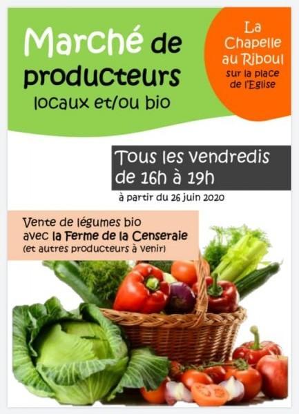 marché de producteurs La Chapelle au Riboul