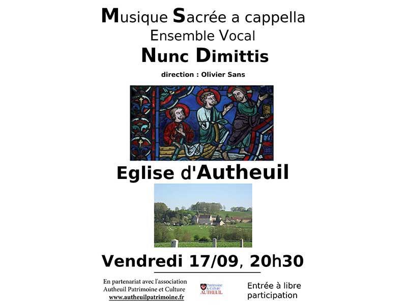 Concert Nunc Dimittis Autheuil