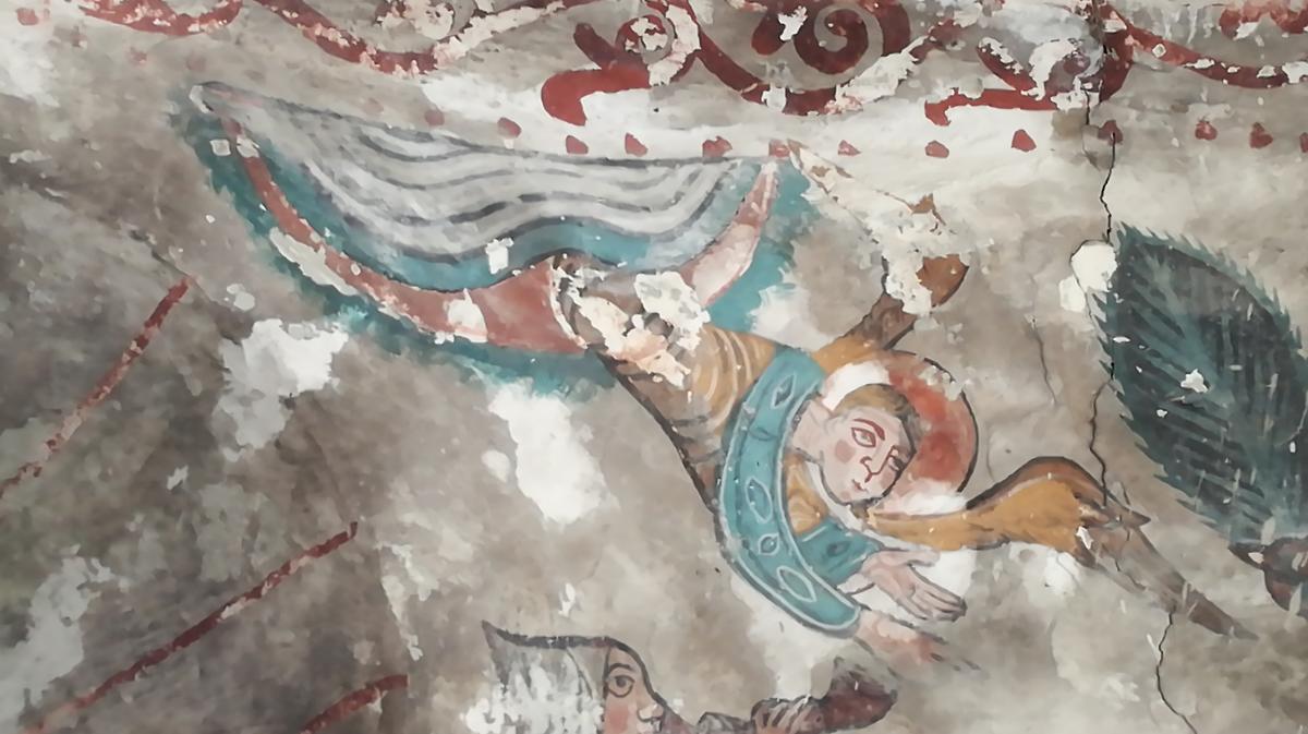 Peinture murale - église Eget-Village