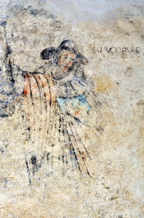 Peinture murale - église Aulon