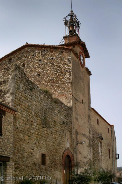 Eglise et reste chateau st jean pla de corts
