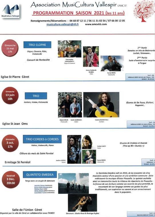 Musicultura Vallespir programmation 2021 2