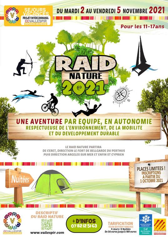 Séjour Raid Nature svs jeunesse 02 au 05 11 21 2