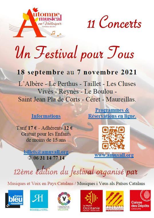 affiche festival automne musical en vallespir