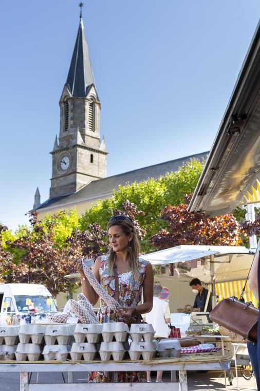 Le Creusot, marché place Schneider