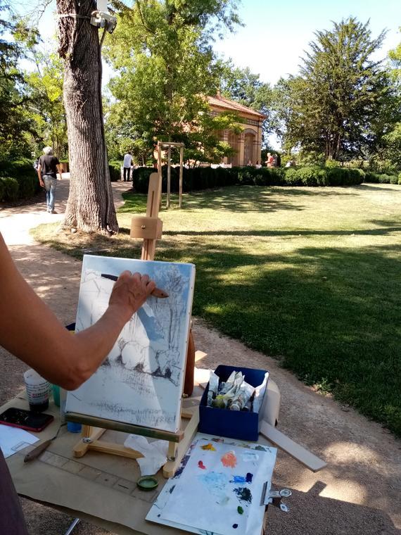 Artistes au jardin Villa Perrusson